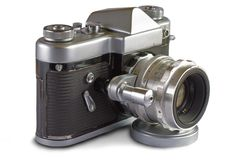 Soviet 35 mm Film SLR Photo Camera Royalty Free Stock Photos