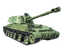 Soviet 152-mm self-propelled howitzer divisional. Model in 1971. Developed in the city of Sverdlovsk in the Ural factory of Transport Engineering Royalty Free Stock Images