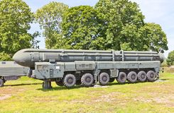 Soviet mobile launcher of missile complex RT-2PM Topol (SS-25 Si Royalty Free Stock Photography