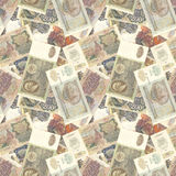 Soviet money seamless texture Royalty Free Stock Photos