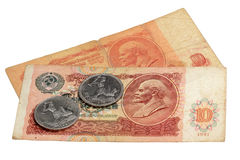 The Soviet money on a white background Stock Image