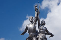 Soviet monument Worker and Collective Farmer Stock Photography