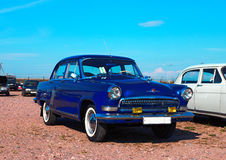 Soviet motor car GAZ-21. On the festival of vintage cars, St. Petersburg, Kronstadt, September 6, 2015 Stock Photos