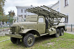 Soviet multiple rocket launcher Katyusha Stock Images