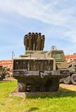 Soviet multiple rocket launcher system 9A52 Smerch Royalty Free Stock Image
