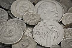 Soviet obsolete coins Stock Photo