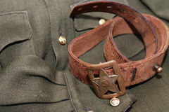 Soviet Officer Belt Stock Photography
