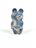 Soviet olympic bear statuette Stock Photography