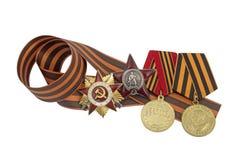 Soviet Order of the Great Patriotic War Stock Image