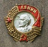 Soviet order of Lenin. Medal victory veteran reward lenin war hammer emblem october decoration army revolution sign award order symbol soviet gold ussr stock photos