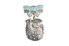 Soviet order of Maternal glory isolated Royalty Free Stock Image