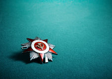 Soviet Order of the Patriotic War. Military insignia a Second World Stock Photo