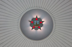 Soviet order of Victory. Order of Victory on the ceiling of the building of the museum of WWII. Moscow, Russia Stock Photo