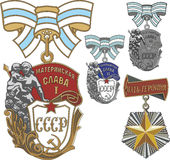 Soviet Orders of Maternal Glory and Mother Heroine Stock Images