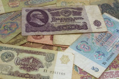 Soviet paper money Royalty Free Stock Images
