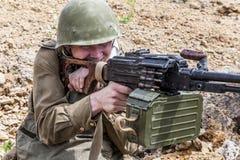 Soviet paratrooper in Afghanistan Royalty Free Stock Image