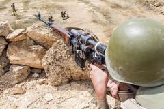 Soviet paratrooper in Afghanistan Royalty Free Stock Photos