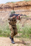 Soviet paratrooper in Afghanistan Stock Images