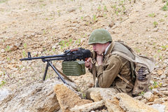 Soviet paratrooper in Afghanistan Stock Photography
