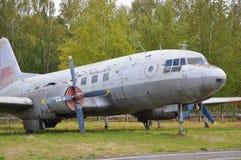 Soviet passenger plane on museum Stock Photos