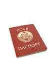Soviet passport. With emblem of ussr isolated over white Royalty Free Stock Image