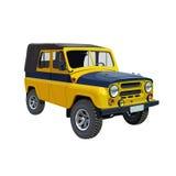 Soviet police car UAZ yellow-blue Stock Photography
