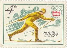 Soviet postage stamp. Innsbruck  1976 Stock Images
