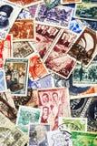Soviet Postal Stamps. Shot of the random collection of soviet postal stamps (1920-1980s stock images