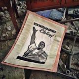 Soviet poster. Poster in abandoned school in Prypiat ghost town, Ukraine Stock Photo