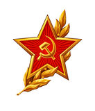 Soviet Red Army badge Stock Image