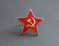 Soviet red star badge Royalty Free Stock Photos