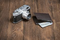 Soviet retro camera royalty free stock photos