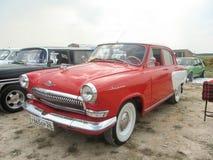 Soviet retro car. Soviet car at the exhibition in Essentuki Royalty Free Stock Photography