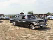 Soviet retro car. Soviet car at the exhibition in Essentuki Stock Photo