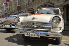 Soviet retro car Volga GAZ-21 Stock Photos