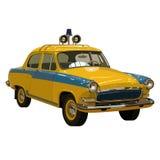Soviet retro car yellow Stock Image