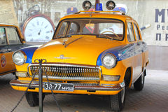 Soviet retro yellow police car Volga 1965 Stock Images