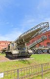 Soviet rocket launcher 2P19 of missile complex 9K7 Stock Photo