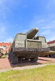 Soviet rocket launcher 2P120 of missile complex TR-1 Temp Royalty Free Stock Photo