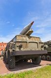 Soviet rocket launcher 9P113 of rocket system 9K52 Luna-M Royalty Free Stock Photo