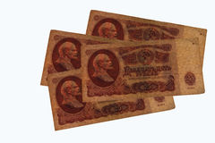 The Soviet ruble Stock Photos
