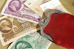 The Soviet rubles with Lenin's image Royalty Free Stock Photo