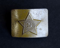 Soviet russian army belt buckle Royalty Free Stock Images