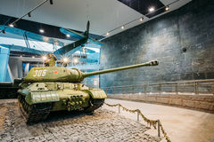 Soviet russian heavy tank IS-2 In The Belarusian Museum Of The G Royalty Free Stock Photo