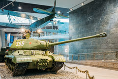 Soviet russian heavy tank IS-2 In The Belarusian Museum Of The Great Patriotic War Royalty Free Stock Photography