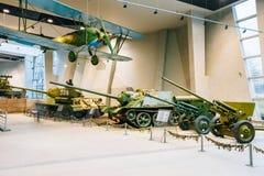 Soviet Russian light night bomber PO-2, heavy tank Royalty Free Stock Photography