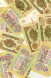 Soviet russian money background Royalty Free Stock Photo
