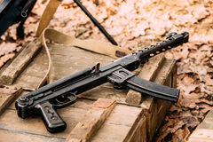 Soviet Russian Red Army Submachine Gun PPS-43 Of World War Ii Ly Royalty Free Stock Image