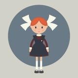 Soviet schoolgirl Royalty Free Stock Photo
