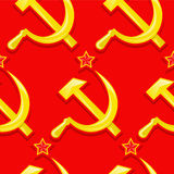 Soviet seamless pattern Royalty Free Stock Image